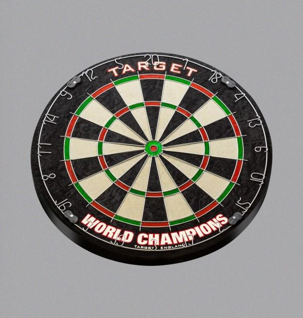 WORLD CHAMPION ROUND WIRE DARTBOARD
