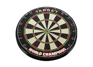 WORLD CHAMPION ROUND WIRE DARTBOARD